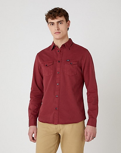Two Pocket Flap Shirt in Rusty Brown