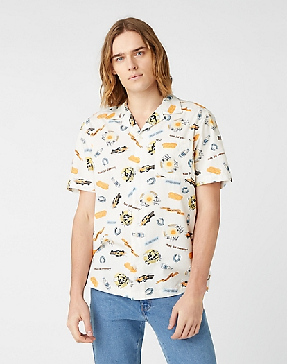 Short Sleeve One Pocket Shirt in Papyrus