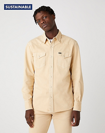 Indigood Icons 27MW Western Shirt in Sandstorm