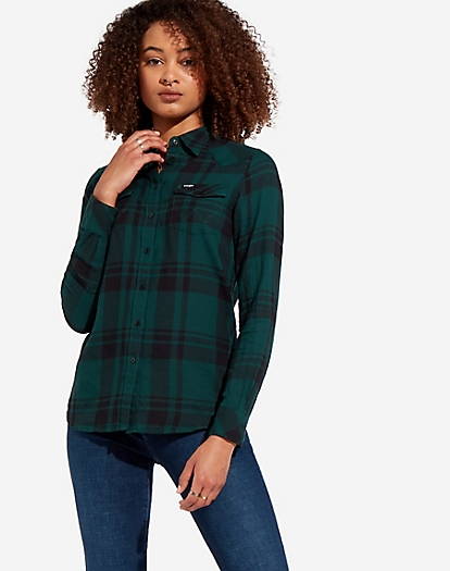 Western Check Shirt in Pine