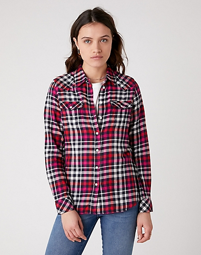 Western Check Shirt in Parisian Night