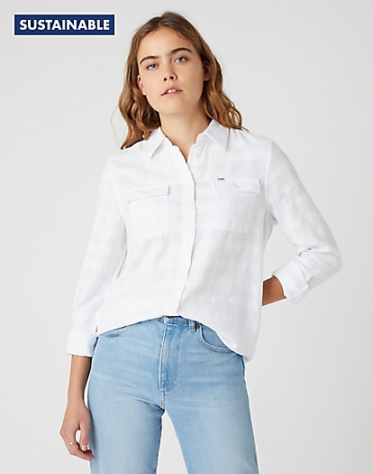 Utility Shirt in White