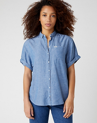Summer Shirt in Blue Shadow