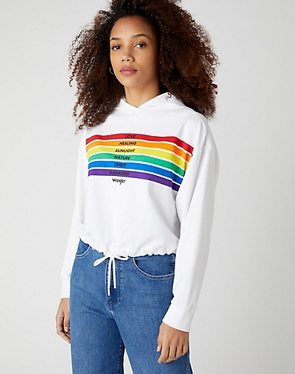 Pride Rainbow Sweater in White