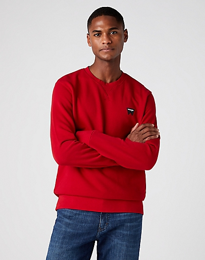 Sign Off Crew Sweater in Red