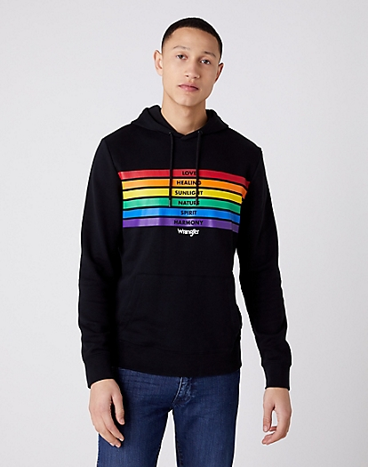 Pride Rainbow Sweater in Black
