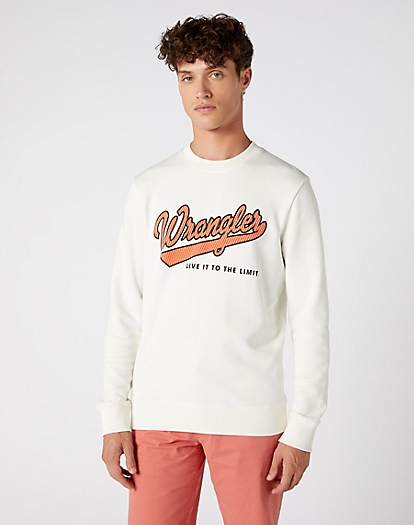 Logo Sweater in Off White