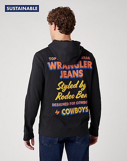 Wrangler Hoodie in Faded Black