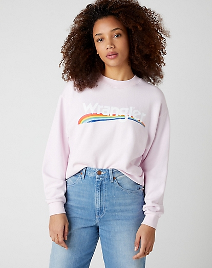 Retro Logo Sweater in Lilac Ice