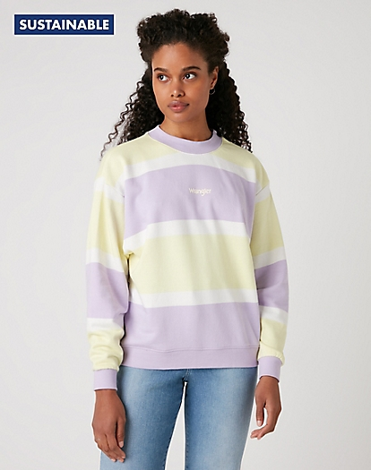 Retro Logo Sweater in Pastel Violet