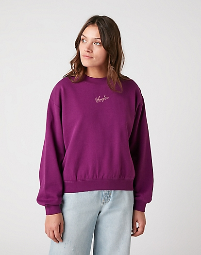 Retro Logo Sweater in Ultraviolet