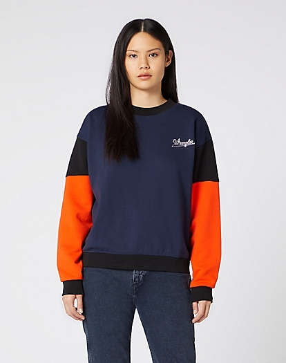 Retro Logo Sweater in Navy