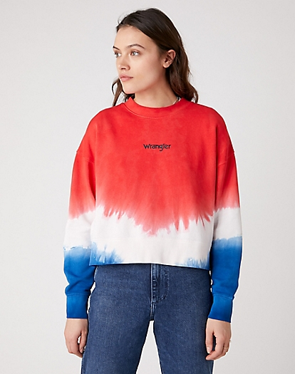High Rib Boxy Retro Sweater in Wrangler Blue