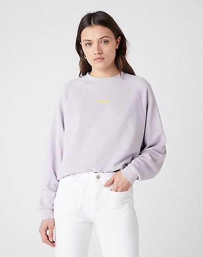Retro Raglan Sweater in Iris Purple