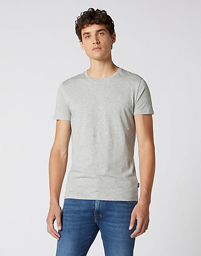 2 Pack Tee in Mid Grey Mele