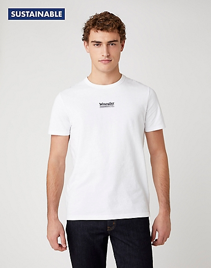 Short Sleeve Seas Logo Tee in White