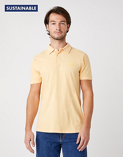 Short Sleeve Polo in Lovely Mango