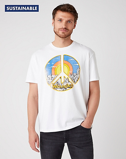 Short Sleeve Car Tee in White