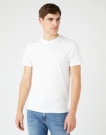 Short Sleeve Two Pack Tee in White