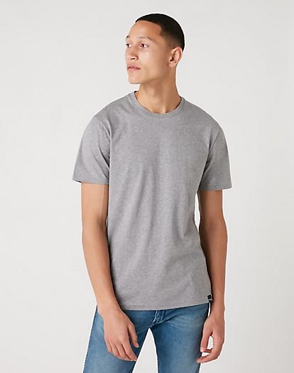 Short Sleeve Two Pack Tee in Mid Grey Mel