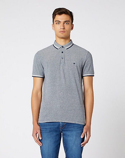 Short Sleeve Refined Polo in Navy
