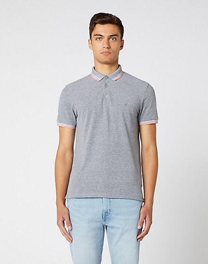 Short Sleeve Refined Polo in Cold Grey