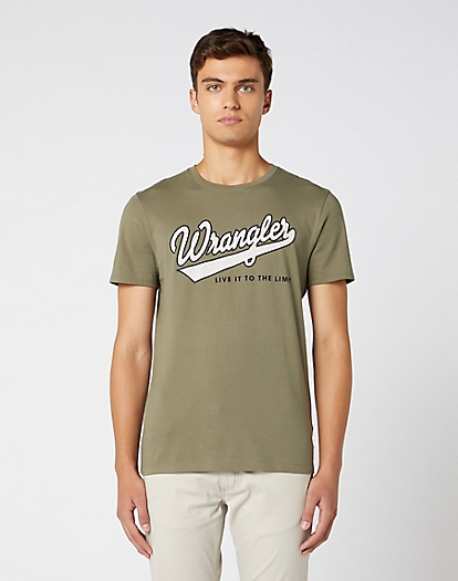 Short Sleeve Live It Tee in Dusty Olive