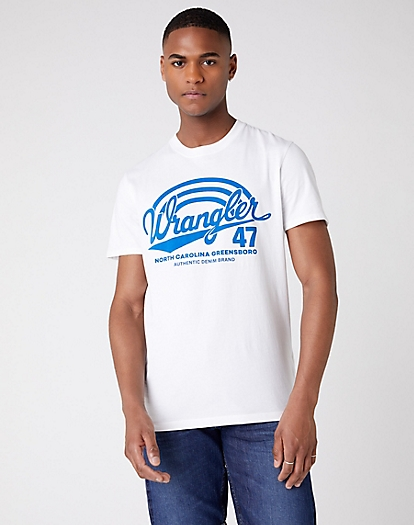 Short Sleeve Americana Tee in White
