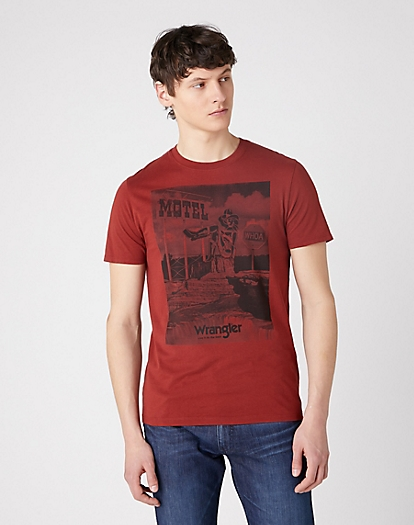 Short Sleeve Motel Tee in Rusty Brown
