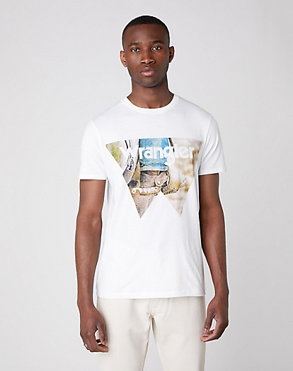 Short Sleeve Cowboy Cool Tee in White