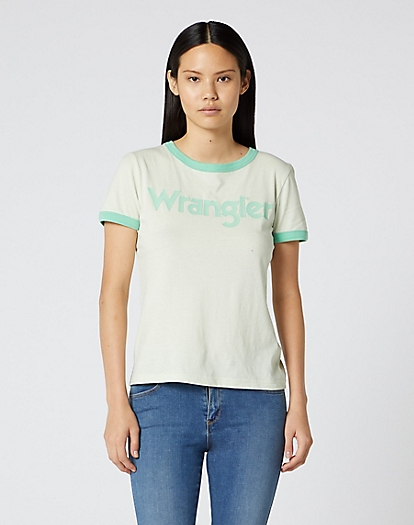 Ringer Tee in Almost Aqua