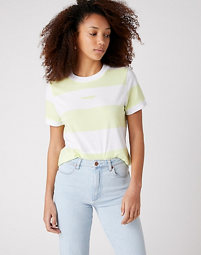 Striped Tee in Lime Sherbet