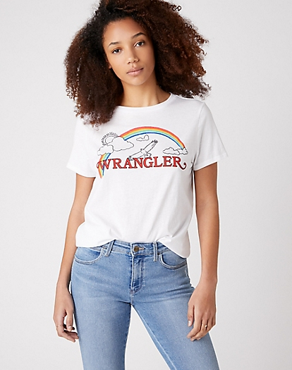 Regualr Rainbow Tee in True White