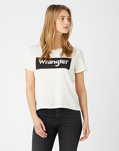 Logo Tee in Off White
