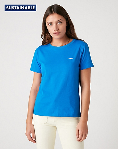 Logo Tee in Strong Blue