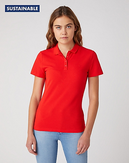 Polo in Flame Red