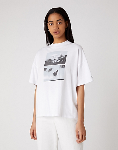 High Rib Girlfriend Tee in White