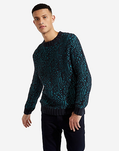 Jacquard Knit in Dark Navy