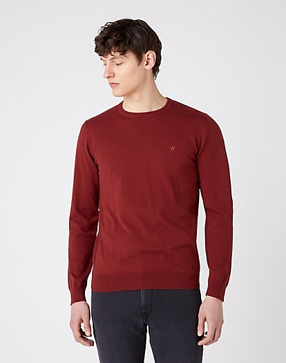 Crewneck Knit in Rusty Brown