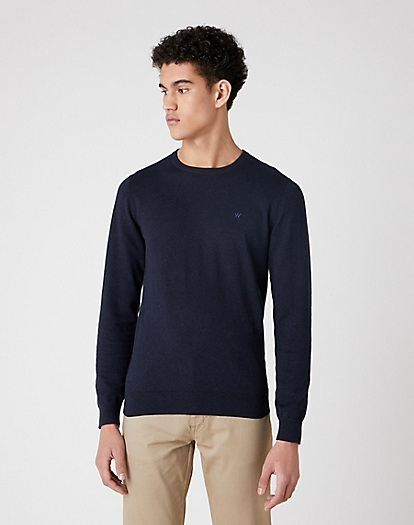 Crewneck Knit in Dark Navy