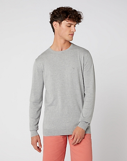 Crew Knit in Mid Grey Mel