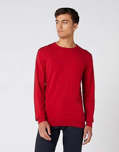 Crew Knit in Red
