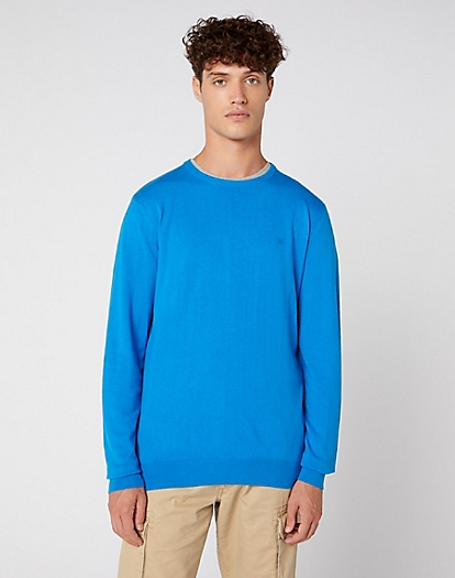 Crew Knit in Directoire Blue