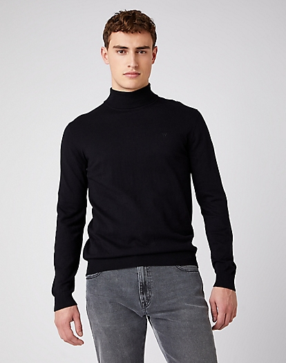 Roll Neck Knit in Black