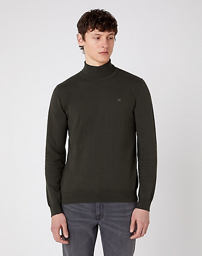 Roll Neck Knit in Rosin Green