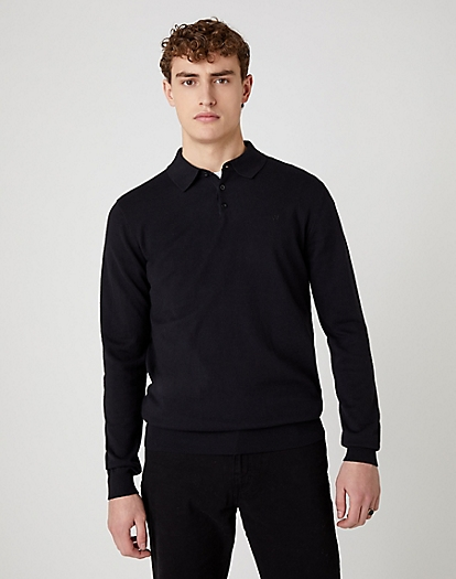 Polo Knit in Black