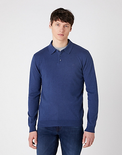 Polo Knit in Patriot Blue