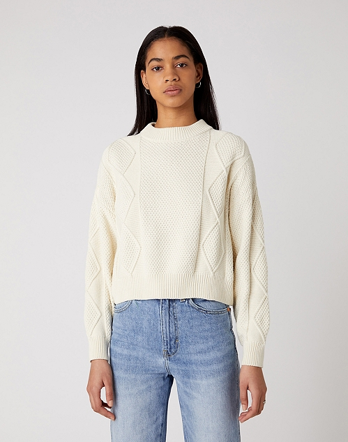CABLE KNIT IN WHISPER WHITE