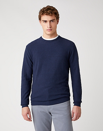 Crew Knit in Navy