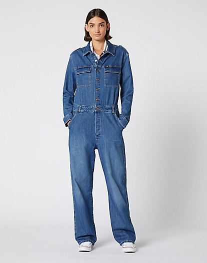 Utility Jumpsuit in Summer Breeze